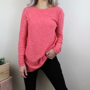 Eileen Fisher Easy Pullover Coral Tunic Sweater